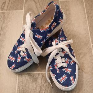 Twiggy London British Flag Sneakers 6.5